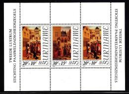 Surinam MNH Scott #B228a Souvenir Sheet Of 3 Paintings - Easter - Surinam