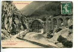 BTE 64 Vallée D'Aspe, Escot Pont Du Transpyrénéen En Construction - Frankrijk