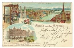 Suisse /Schweiz/Svizzera/Switzerland // Zurich // Gruss Aus Der Schweiz (litho) - ZH Zurich