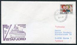 1979 Norway M/S VISTAFJORD Norwegian America Line Ship Cover - Norway