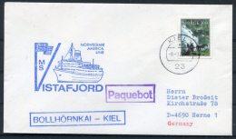 1979 Norway Kiel Germany M/S VISTAFJORD Norwegian America Line Ship Paquebot Cover - Norway