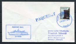 1979 Norway Haiti SKYWARD Ship Paquebot Cover - Norway