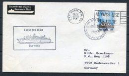 1976 Norway San Juan Porto Rico SKYWARD Ship Paquebot Cover - Norway