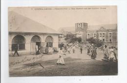 FREETOWN 7 SIERRA LEONE THE MARKET AND THE CUSTOM HOUSE 1908 - Sierra Leone
