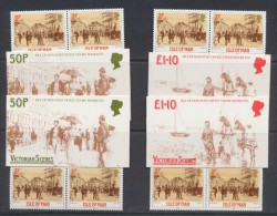Isle De Man 1987  Victorian Scenes  Booklets  50p  And  £ 1.10     *** MNH  SG SB16 , SB17 - Man (Eiland)