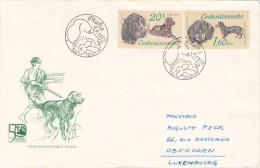 FDC - 1973 - Praha - Chien Chasse Dog Hunt - Lot Of 3 Items - FDC