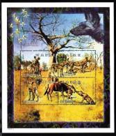 Zaire MNH Sheet Of 4 35000nz Hyenas - Zaïre