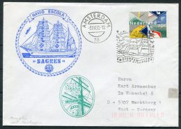 1985 Netherlands Amsterdam Sail '85 Ship Cover NAVIO ESCOLA - Period 1980-... (Beatrix)