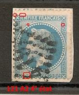 121 A2, 4° état, 20C NAPOLEON LAURE, Planché ! - 1863-1870 Napoléon III Lauré