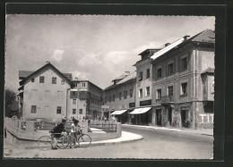 CPA Jesenice, Vue De La Rue Avec Vélofahrern - Slowenien
