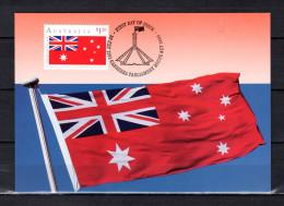 """AUSTRALIE 1991 : Carte Maximum Et PAP Neuf """" AUSTRALIAN RED ENSIGN / ETOILES """". Parfait état. CM - Flags"""