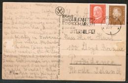 GERMANY  1932 POSTCARD From ERFURT To PROVIDENCE, RI (15/3/32) - Germany