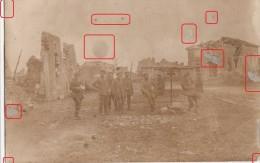SAULX LES CHAMPLON  SOLDATS ALLEMANDS UTILISANT UN MANEGE DE FORTUNE  CARTE PHOTO ALLEMANDE - France