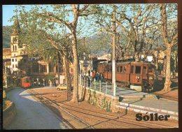 CPM  Non écrite Espagne Mallorca SOLLER Estacion Ferrocarril Train Tramway - Mallorca