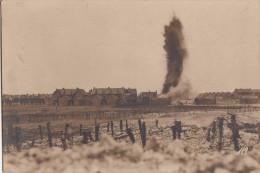 AUBERS  EXPLOSION D'UN OBUS DE 28cm  CARTE PHOTO ALLEMANDE - Autres Communes