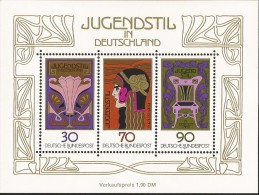 E)1977 GERMANY, ART NOUVEAU,PAINTINGS, SOUVENIR SHEET, MNH - [7] Repubblica Federale