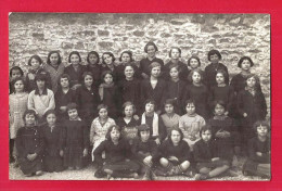 CPA 52 CARTE PHOTO De Classe 1935 école De Filles De Marcilly - Photo Merger - France
