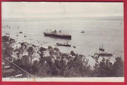POSTCARD GERMANY BLANKENESE BLICK Auf Die ELBE CIRCULATED 1908 - Blankenese