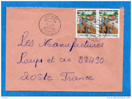 MARCOPHILIE-lettre-Congo->Françe Cad-nkayi -1987-2-stamps N°714-environnement - Other