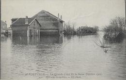 Inondations Janvier 1910 - Alfortville - La Grande Crue De La Seine - Maisons Inondées - Carte ND Phot. Non Circulée - Inondations