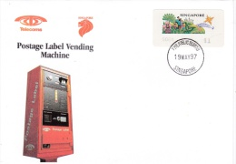 ATM On Cover: Singapore FDC 1997 Mi. 8.1.2  (G81-117) - ATM - Frama (labels)