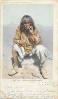 Moki Indian Cigarette Smoker - Detroit Photographic Co. - Carte Précurseur - Indiens De L'Amerique Du Nord