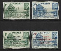 """Dahomey YT 149 150 153 154 """" Pétain """" 1941-44 Neuf** - Unused Stamps"""