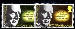 Y985 - PITCAIRN 1974, Serie Completa Usata N. 142/143  CHURCHILL - Sir Winston Churchill