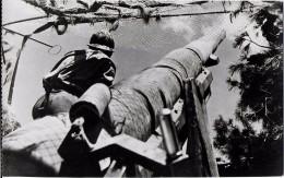 GUERRE 39 - 45 MILITARIA DU TCHAD A TUNIS  PIECE DE 155 EN POSITION LORS DE L'OFFENSIVE DU ZAGOUHAN - Weltkrieg 1939-45