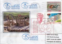 TUNISIE. EXPO UNIVERSELLE MILANO 2015. Lettre Du Pavillon De La TUNISIE  à MILAN., Adressée En Andorre, - Tunisie (1956-...)