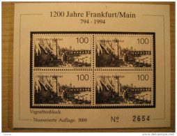 GERMANY Frankfurt 1994 Imperforated Black Proof Epreuve Noir Schwarz Druck Specimen Sweden - Ensayos & Reimpresiones