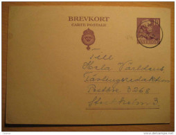 Ottum 1943 To Stockholm 10 Ore Brevkort Carte Postale Postal Stationery Card Sweden - Postal Stationery