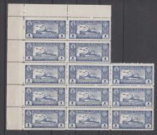 Paraguay Mi# 360 Block Of 13 ** MNH Airmail 1931 Gunboat - Paraguay