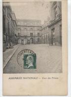 170  VERSAILLES  CONGRES  1924   SUR CARTE ASSEMBLEE  NATIONALE  (  2 SCANS R° V°  )  .  VOIR  DESCRIPTION  . - Marcophilie (Lettres)