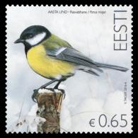 Estonia, 2016, Bird, Great Tit, Carbonero Común, Mésange Charbonnière, Kohlmeise, Cinciallegra (1v) MNH - Zonder Classificatie