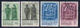Katanga, Scott #52,55,57,61 Used Wood Carvings, 1961 - Katanga