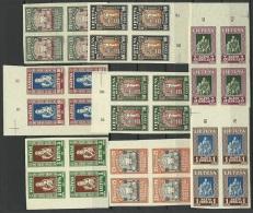 LITAUEN Lithuania 1933 Michel 364 - 371 B In 4-Block MNH Nice Margins! Schöne Ränder ! - Lithuania