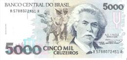 Brazil - Pick 232c - 5000 Cruzeiros 1993 - AUnc - Brasile