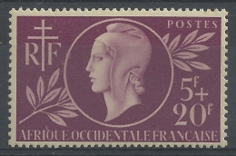 French West Africa (AOF), Entraide Française, Marianne, 1944, MNH VF - Neufs
