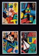 UK, 1989, Mint Never Hinged Stamps , Europe, Children Games, 1202-1205, #1044 - 1952-.... (Elizabeth II)