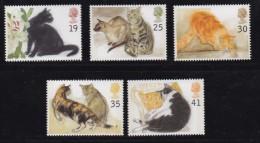 UK, 1995, Mint Never Hinged Stamps , Cats, 1544-1548, #1057 - 1952-.... (Elizabeth II)