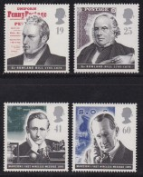 UK, 1995, Mint Never Hinged Stamps , Sir Rowland Hill, Marconi, 1587-1590 #1071 - 1952-.... (Elizabeth II)