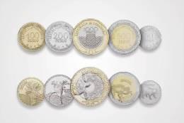 Lote 401, Colombia, 2012, Monedas, 5 Coins, Complet Set, Rana, Oso, Frog, Bear, Turtle, Bird, Bimetallic - Colombia