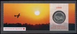 "Canada 25 Cent 1999 Motiv: Buschflugzeug ""The Airplane Opens The North"" Orig. Bilster, UNC. - Canada"
