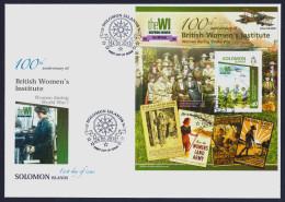 "2015 SOLOMON ISLANDS ""CENTENARY OF WORLD WAR I - BRITISH WOMEN´S INSTITUTE"" FDC - Isole Salomone (1978-...)"