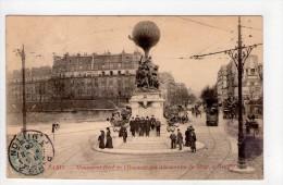 CPA/RYS586/PARIS MONUMENT AUX AERONAUTES DU SIEGE A NEUILLY 1906 - District 17