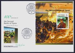 "2015 SOLOMON ISLANDS ""CENTENARY OF WORLD WAR I - SECOND BATTLE OF YPRES"" FDC - Isole Salomone (1978-...)"