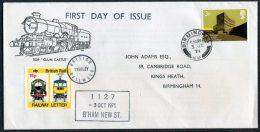 1971 GB Birmingham Clun Castle British Railways Train Cover - 1952-.... (Elizabeth II)