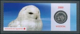 """Canada 25 Cent 2000 Mit Motiv: Alter Mann Und Kind  """"Wisdom"""" Orig. Bilster, UNC. - Canada"""