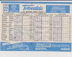 Vecchia Schedina Totocalcio 1983 - Old Paper
